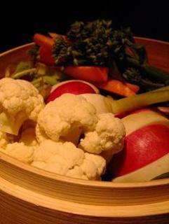 無農薬野菜入り蒸し野菜のバーニャカウダ