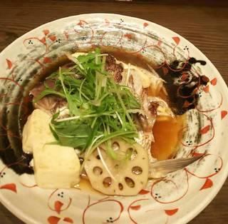 鯛のアラ煮 江田島豆腐添え