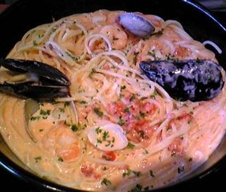 地中海風 海老とあさりのスープスパゲッティー