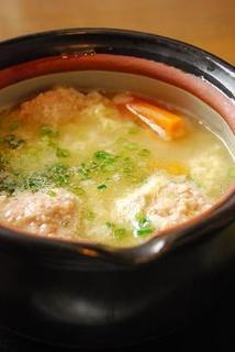 鶏団子雑炊
