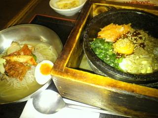 ビビンバと冷麺セット