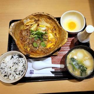 大戸屋特製国産牛のすき鍋定食