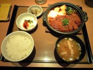 味噌かつ煮定食
