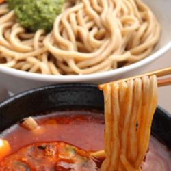 海老トマトつけ麺+モッツァレラチーズ