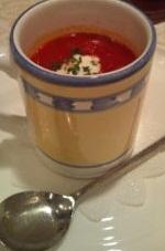 トマト風味のボルシチスープ