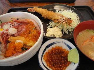 スペシャルわがまま丼+エビフライ