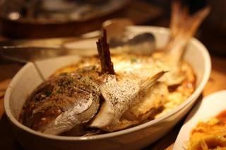 本日のお魚のオーブン焼き
