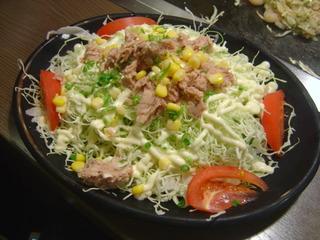 ツナマヨたっぷりサラダ