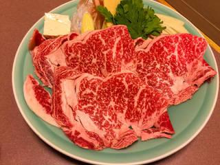 「竹」牛ロースすき焼き定食