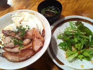 ベーコンエッグ丼(塩)