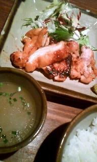 地鶏味噌漬け定食