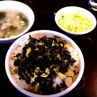 高菜と玉子のせご飯