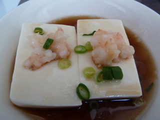 海老と京豆腐の蒸し物