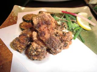近江鶏の竜田揚げ 油淋鶏