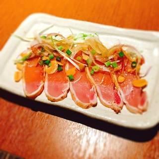 美桜鶏たたきカルパッチョ(ガーリック醤油)