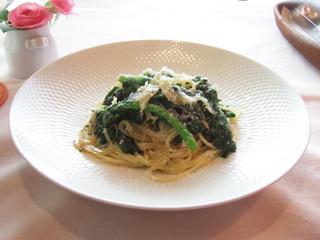 菜の花のスパゲッティーニ