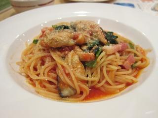 牡蠣のトマトソーススパゲティ
