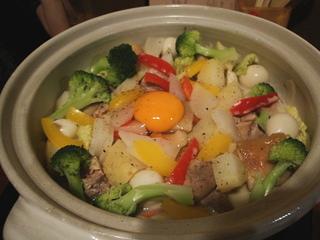 豆乳カルボナーラ鍋