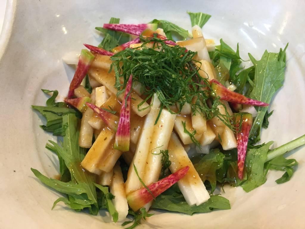 長芋と大根サラダ