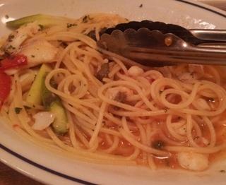 アスパラとトマトのパスタ