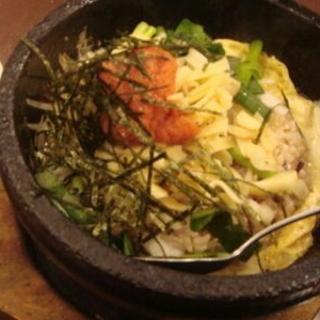 明太子とチーズの石焼十穀米ご飯