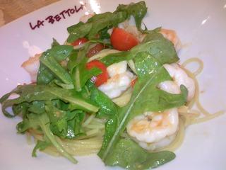 海老とルッコラのスパゲティ