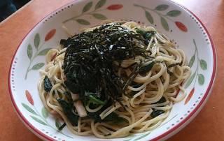 ほうれん草のスパゲッティー