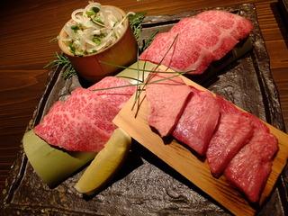 とらふぐてっちり鍋と黒毛和牛トロと牛タンの鉄板焼きコース