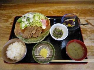 ランチ 生姜焼き定食