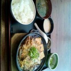 柳川風とろろ鍋定食