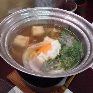 磯焼きコースの本日の一品鱧鍋