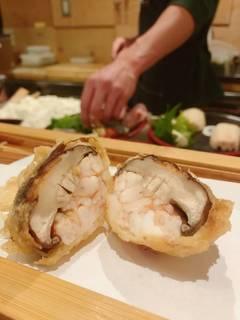 椎茸の海老詰め