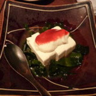 梅肉とろろ豆腐