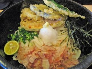 野菜天ぶっかけうどん(冷)