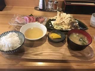 ランチ定食(旬野菜天ぷら)