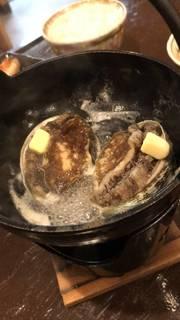 アワビの踊りバター醤油