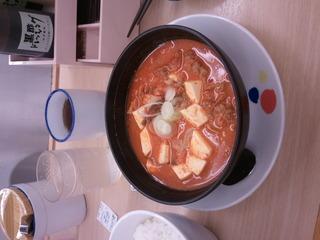 豆腐キムチチゲセット