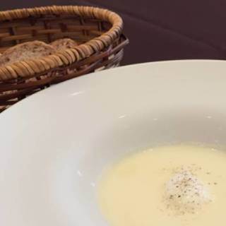 とうもろこしの冷製スープ オリーブの香り