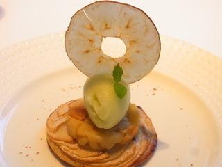 林檎のタルトとドライフルーツのコンポート