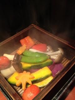 季節野菜のせいろ蒸し