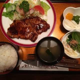 辛子味噌豚ロース定食