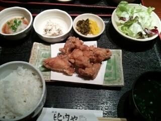 みつせ鶏の唐揚げ定食
