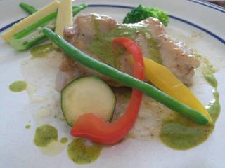 チキンのグリーンマスタードソース
