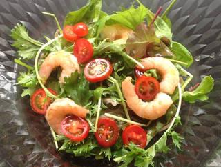 絶品オリーブオイルのサラダ蕎麦