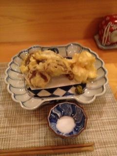 椎茸とユリネの天ぷら