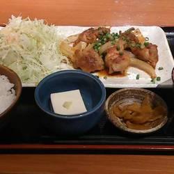 鶏の旨辛炒め定食