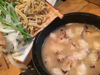 炙りモツつけ麺