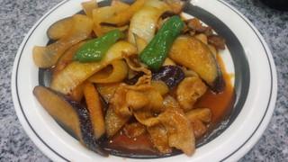ナスと肉の生姜焼
