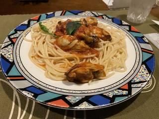 牡蠣のトマトソース(スパゲティ)