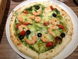 海老のジェノベーゼピザ